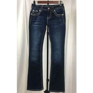 Miss Me Bootcut Dark Wash Jeans Sz 25